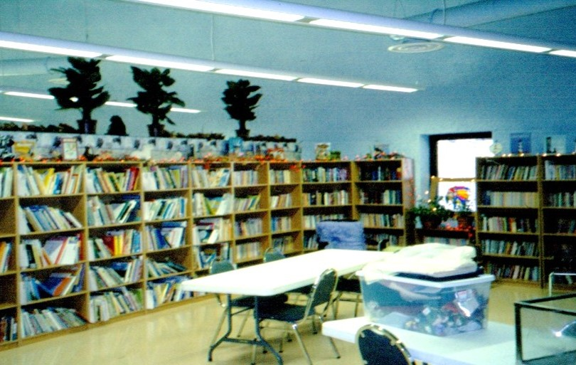 Library at Red Shirt Table School